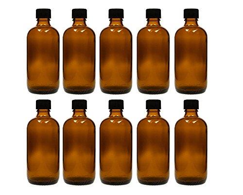 hocz 10 x 100 ml Tropfflasche Glasflaschen mit Tropfeinsatz | Farbe Braunglas | Füllmenge: 100 ml | Apothekerflasche | Dosierung von Flüssigkeiten E-Liquids