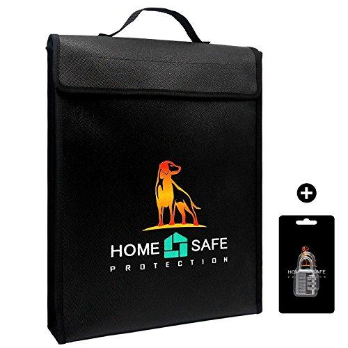 Ignífugo bolsa para dinero y documentos, non-itchy, fuego y resistente al agua seguro sobre bolsa, revestimiento de silicona fibra de vidrio seguridad maletín