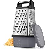 Best Cheese Shredders - Zulay 4-Sided Cheese Grater With Container - Stainless Review