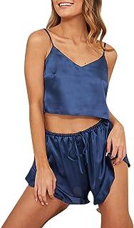 5ac794b9199 Lingerie Pajamas Set for Sex Jiayit Women Sexy-Lingerie Sleepwear Satin  Silk Babydoll