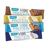 Barra de proteinas (protein bar) caja de 15 unidades (15x55g) baja en azucar, extra de fibra y varias capas deliciosas. 36% de proteinas. Sin gluten (Choco coco)
