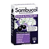 Sambucol Cold & Flu Relief Quick Dissolve Tablets Black Elderberry 30 TB - Buy Packs and SAVE (Pack of 2)