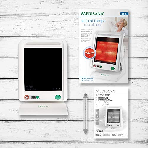 Medisana IR 885 Infrarot-Wärmelampe 300 Watt – Infrarotleuchte zur Behandlung von Bild 6*