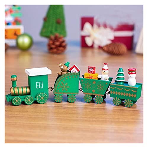 JSJJRFV Adornos Tren de Navidad Madera para el árbol Hogar Partido Decoración de Navidad Decoración de Navidad Juguetes Niños Regalo Año Nuevo Adorno (Color : B)
