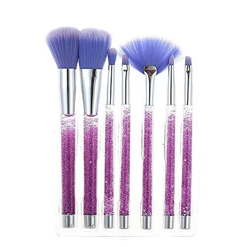 Pinceaux de maquillage de base de la mode, mélange de fond de teint blush correcteur d'oeil pour le visage, poudre de maquillage en poudre cosmétique pinceau de maquillage (Couleur : Purple)