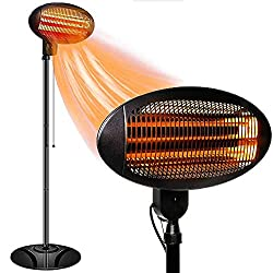ZIOTHUM Outdoor Heater Electric -Infrared Patio Heater, 3 Adjustable Power Level Outdoor Heater & Overheat Protection, Infrared Heater for Patio, Garage, Courtyard