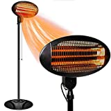Outdoor Heater Electric -Infrared Patio Heater, 3 Adjustable Power Level Outdoor Heater & Overheat Protection, Infrared Heater for Patio, Garage, Courtyard