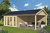 Gartenhaus HANNOVER Blockhütte Blockhaus Holzhaus 380 x 380 x 380 cm - 45 mm