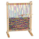 Melissa & Doug Wooden Multi-Craft Weaving Loom (Arts & Crafts, Extra-Large Frame, Develops Creativity and...