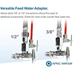 APEC Water Systems ROES-50 Essence Series Top Tier 5-Stage Certified Ultra Safe Reverse Osmosis Drinking Water Filter… 20 Supreme quality - designed, engineered, and assembled in USA to guarantee water safety & your health. Only technology to remove up to 99% of contaminants such as chlorine, taste, odor, VOCs, as well as toxic fluoride, arsenic, lead, nitrates, heavy metals and 1000+ contaminants. Max Total Dissolved Solids - 2000 ppm. Feed Water Pressure 40-85 psi WQA Certified System. Premium long-lasting filters used to treat tap water, well water. Provide unlimited clean, refreshing crisp tasting water superior to bottled water