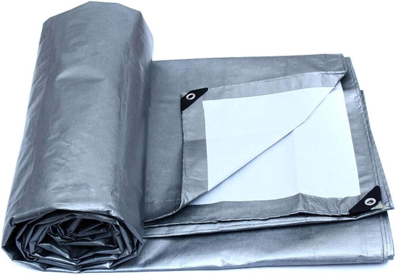 YX-Planen Starke Starke Starke Wasserdichte Plane Mehrzweck Reversible Sunshade Tarp Tent grau Tarp Sheet - Dicke 0,32 mm, 180 g m² - 100% wasserdicht und UV-geschützt B07KG1XYQK  Großhandel 577130