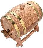 JLDN Barril de Vino de Roble, Barril de Madera de Roble Envejecimiento Barril con Grifo con Filtro Kit de elaboración del Vino for su Almacenamiento o envejecimiento del Vino,Wood Color_10L