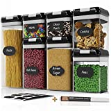 Chef's Path Airtight Food Storage Container Set - 7 PC Set - 10 Chalkboard Labels & Marker - Kitchen...