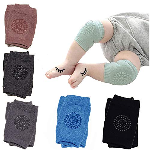 6 Pairs Baby Knee Pads For Crawling, EANUR Upgraded Version Of Unisex Baby Infant Knees
