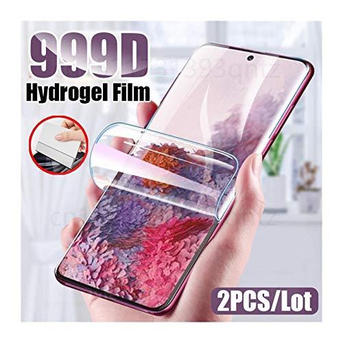 HUIY Protector de Pantalla Pantalla de hidrogel de la película del Protector for Samsung Galaxy S7 S10 S20 S9 Edge Plus Ultra Película de telefonía (Color : For Samsung A51, Size : 2 pcs)