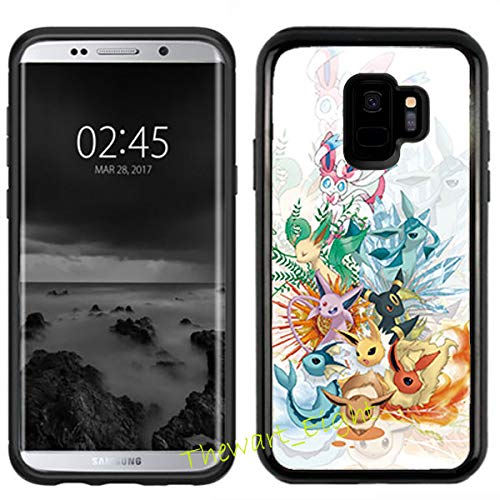 Case for Samsung Galaxy S9, Pokemon Manga Anime Comic PC + TPU 2in1 Hybrid Case Cover + Thewart8 Stylus Pen (#174)