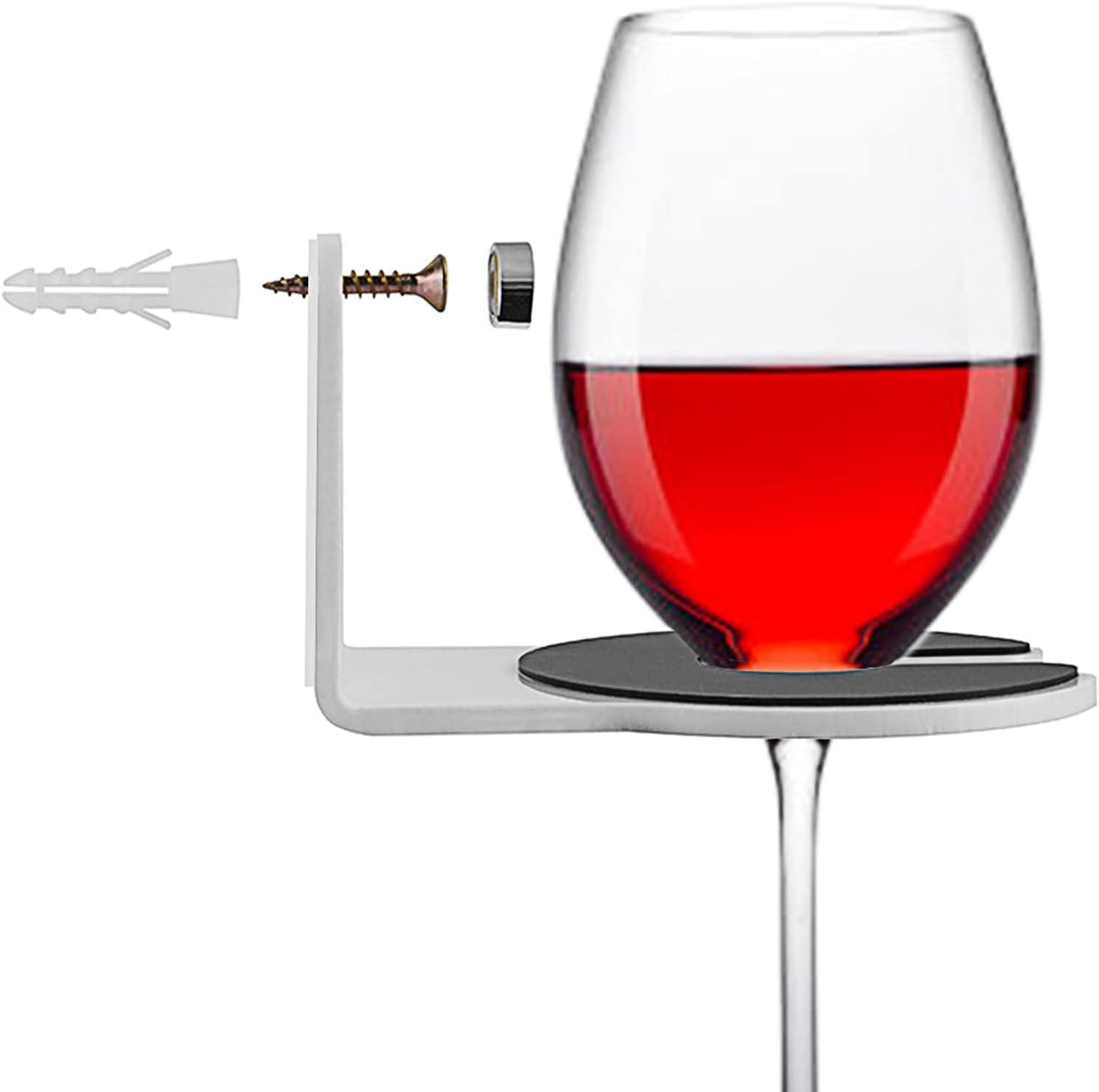 AOFETE Wine Nippon regular agency Glass Holder Max 87% OFF for Beve Cupholder Acrylic Bathtub