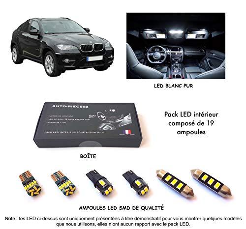 Pack FULL LED intérieur pour X6 E71 (Kit ampoules blanc pur)