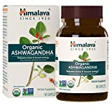 Himalaya Organic Ashwagandha 670 mg 90 Caplets, Equivalent to 4630mg of Ashwagandha Root Powder, 3 Month Supply of Anxiety Supplements for Anxiety Relief and Stress Relief