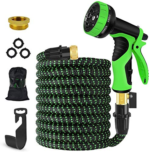 KOOLBOY Expandable Garden Hose, 50 FT Upgraded Flexible Water Hose with 9...