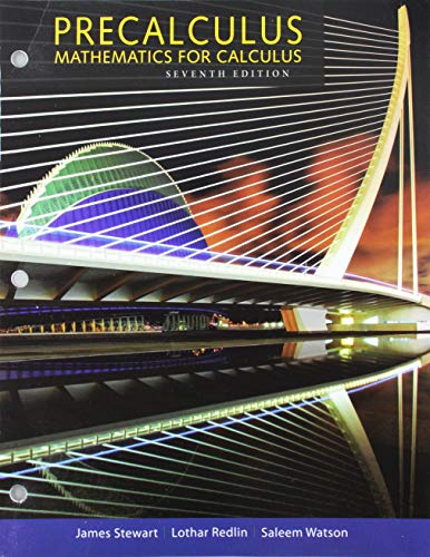 Bundle: Precalculus: Mathematics for Calculus, 7th + WebAssign for Stewart/Redlin/Watson's Precalculus, Enhanced Edition
