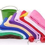 Nuevo absorbente microfibra toallas toalla de mano cocina paño de cocina dishrag paño al azar color 10 unids/set