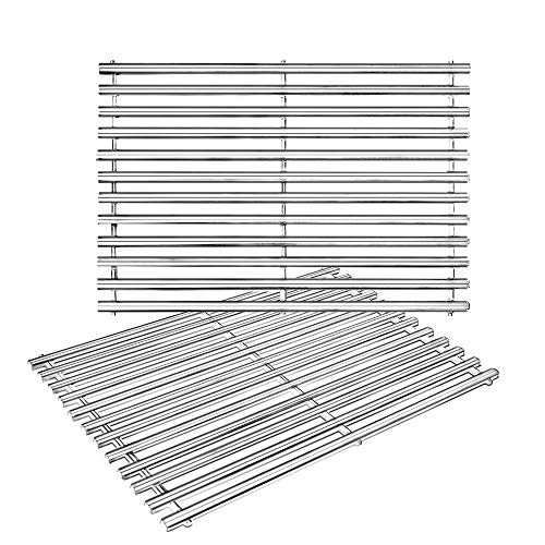 BBQ funland GS9812 Stainless Steel Cooking Grid Replacement for Grill Master 720-0697, Charbroil, Brinkmann and Nexgrill Gas Grills Parts, Set of 2