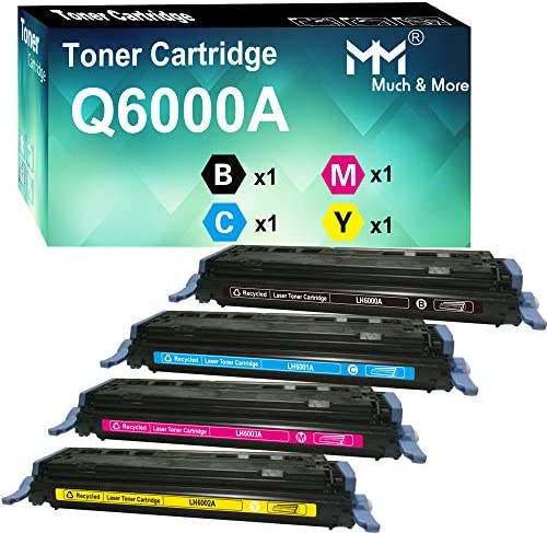 MM MUCH MORE Compatible Toner Cartridge Replacement for HP 124A Q6000A Q6001A Q6002A Q6003A product image