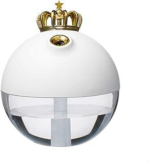 Mini Humidifier Cute Crown Mute USB Air Humidifier Home Office Night Light Aromatherapy Machine Desktop Wireless Endurance...