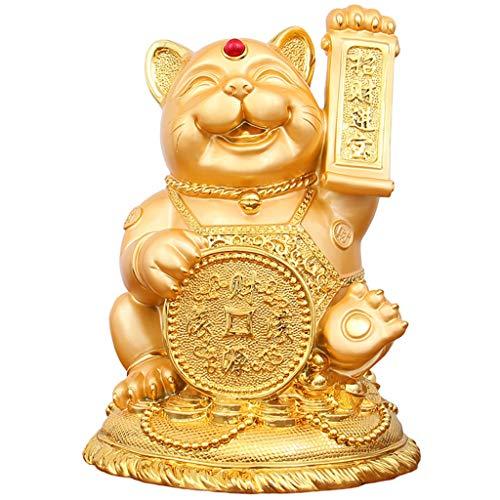 Statue Figurina Dorata del Gatto Fortunato della Scultura Creativa d'Annata Camera dei Bambini Camera da Letto Salvadanaio Artigianato Statua Decorativa nel Negozio Dell'armadietto del Vino