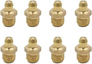 sourcing map 8pcs 1 8 quot  Thread Brass Straight Grease Nipple Fitting for Motorcycle Car