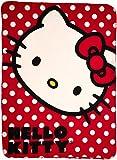 SANRIO Hello Kitty, 'Polka Dot Kitty' Fleece Throw Blanket, 45' x 60', Multi Color