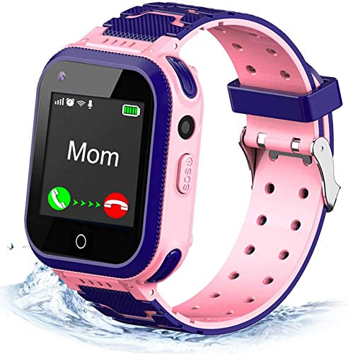 jianyana Smartwatches T3 wasserdichte Smartwatch 2-Wege-Anruf 4G Kids Smart Watch mit GPS-Tracker-Unterstützung SOS Call Digitalkamera-Uhr mit intelligentem Farb-Touchscreen