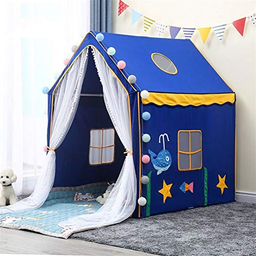LAMPSJN Play house Playhouse for Prince Princess Palace Castle,Children kids Play Tent, Mesh house tent with Cotton pad 2m and lamp, for boys girls Indoor or Outdoor,Birthday Beautiful atmosphe