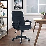 Serta Style Hannah I Office Chair, Comfort Black Microfiber,