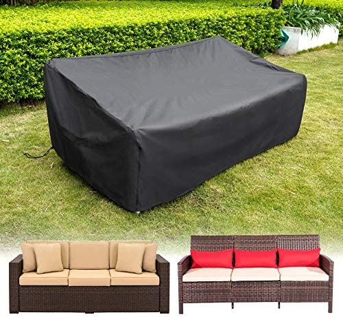 HIRALIY Patio Loveseat Covers Waterproof Outdoor 3 Seaters Patio Sofa Cover Lounge Deep Seat product image