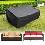 HIRALIY Patio Sofa Covers Waterproof 3 Seaters Outdoor Patio Loveseat Cover Lounge Deep Seat Chairs Cover Heavy Duty Patio Furniture Covers for Bench (82.6' L x 39' W x 27.5' H)