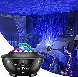 Proiettore cielo stellato, proiettore LED Galaxy con telecomando/altoparlante Bluetooth/timer/proiettore onda oceanica attivato dal suono per camera da letto dei bambini Decor Sala giochi