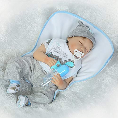 Boneca Reborn Baby Dolls de vinil macio realista de silicone com chupeta magnética
