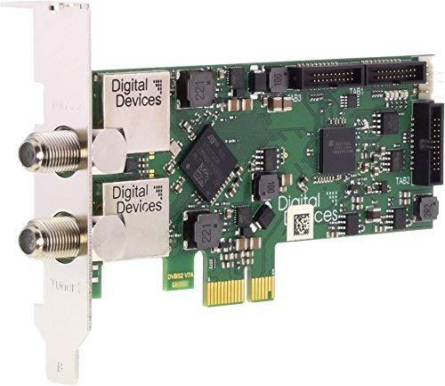 Digital Devices Cine S2 V7 Advanced - Twin Tuner TV Karte (DVB-S/S2 | PCI-E | Low-Profile | Unicable EN50494 und EN50607 | SD / HD / UHD / 4K / HEVC) - Für Heim und Professionellen 24/7 Einsatz