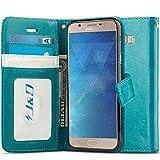 J&D Compatible para Galaxy J7 MAX Funda, [Protección de Cartera] [Soporte Plegable] Funda Pesada Resistentes Billetera para Samsung Galaxy J7 MAX Funda Cuero - [No para J7 2017/J7 Prime SM-G610F]