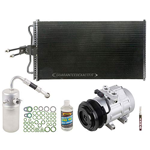 A/C Kit w/AC Compressor Condenser Drier For Ford F150 F-150 V8 Lincoln Mark LT 2006 2007 2008 w/ 6-Groove Pulley - BuyAutoParts 60-82598CK New