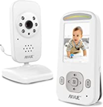 AXVUE E600A Video Baby Monitor with 2.4'' LCD Display, Automatic Night Vision, Two-Way Talk, Temperature Detecting, Power-Saving, VOX.