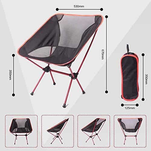 Pliant chaise Slacker légère portative pour la randonnée Camping Plage de pêche