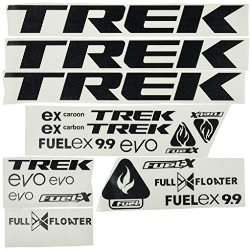 Ecoshirt OT-KRT7-RY3D Aufkleber Trek Fuel Ex 9.9 Bikes F144 Stickers Aufkleber Decals Autocollants Adesivi MTB BTT schwarz