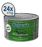 Hopey's hypoallergenes Nassfutter für Hunde 100% Wildschwein-Fleisch 24x 410g Dosen