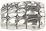 Brazil Lederwaren Gürtelschnalle Kroko Plate 4,0 cm | Buckle Wechselschließe Gürtelschließe 40mm Massiv | Wechselgürtel bis 4cm | Silber