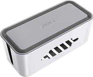 ORICO-Caja para Cables, Caja Cables, Caja Organizadora Cables- Regletas, Cargadores, Adaptadores, Alargadores y Otros Accesorios- Gris y Blanco