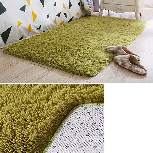 Lfixhssf flauschiger Teppich für Wohnzimmer Deko Kunstfell Teppich Kinderzimmer lange Plüschteppiche für Schlafzimmer Zottelteppich moderne Matte Lfixhssf, grün