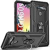 DOSMUNG Funda para LG K50s, Carcasa [360 Grados iman Soporte] [Anti- Choques] [Anti- Arañazos] [Protección a Bordes y Cámara] Case para LG K50s, Negro